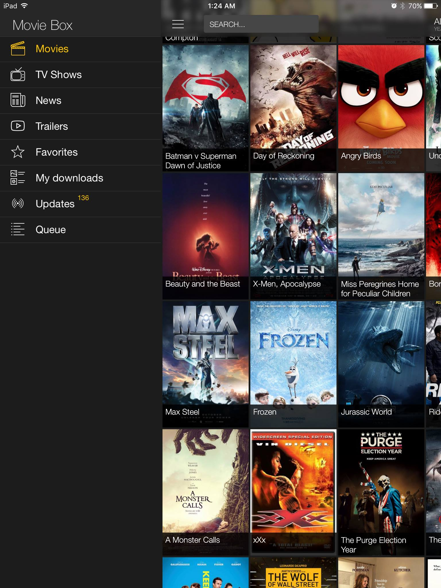 MovieBox Home page