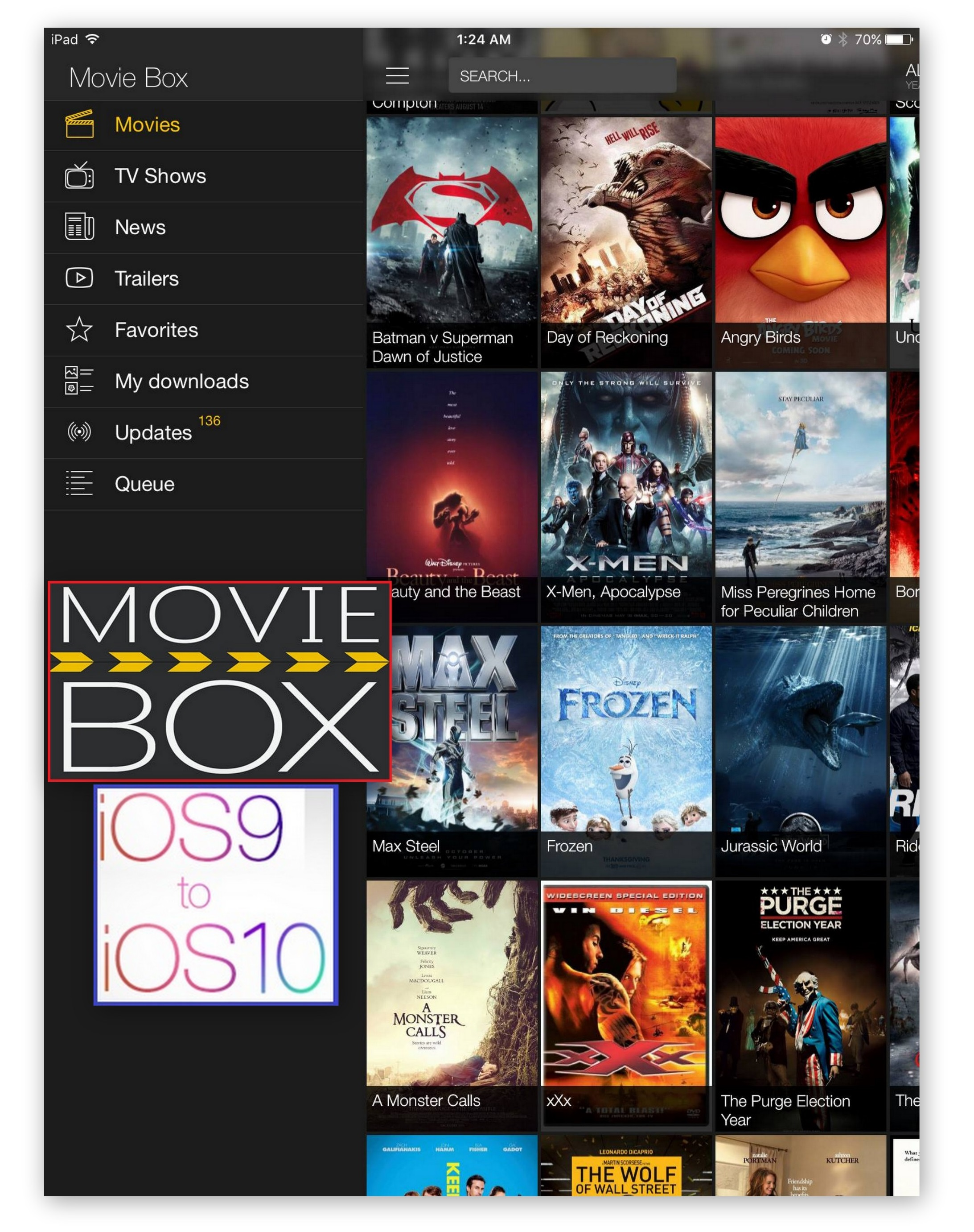 MovieBox for iOS 9 - iOS 10