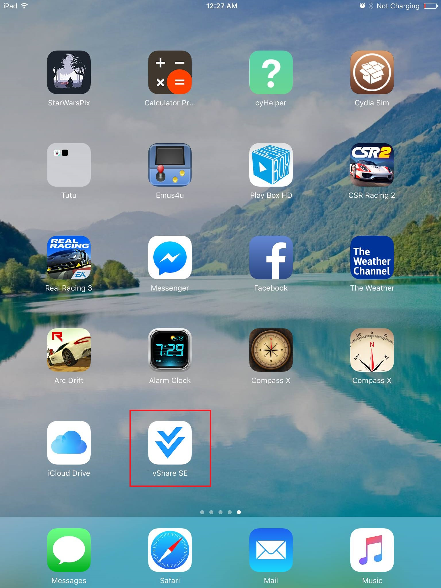 vShare App icon on iOS Home screen